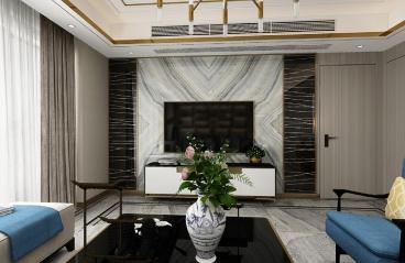 万科金域华府128.6㎡轻奢四居室,彰显空间的优雅魅力