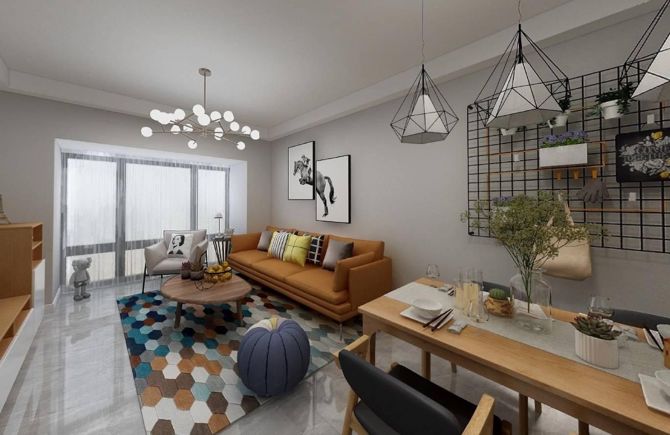 雷圳0755-北欧风格-75m²三居室
