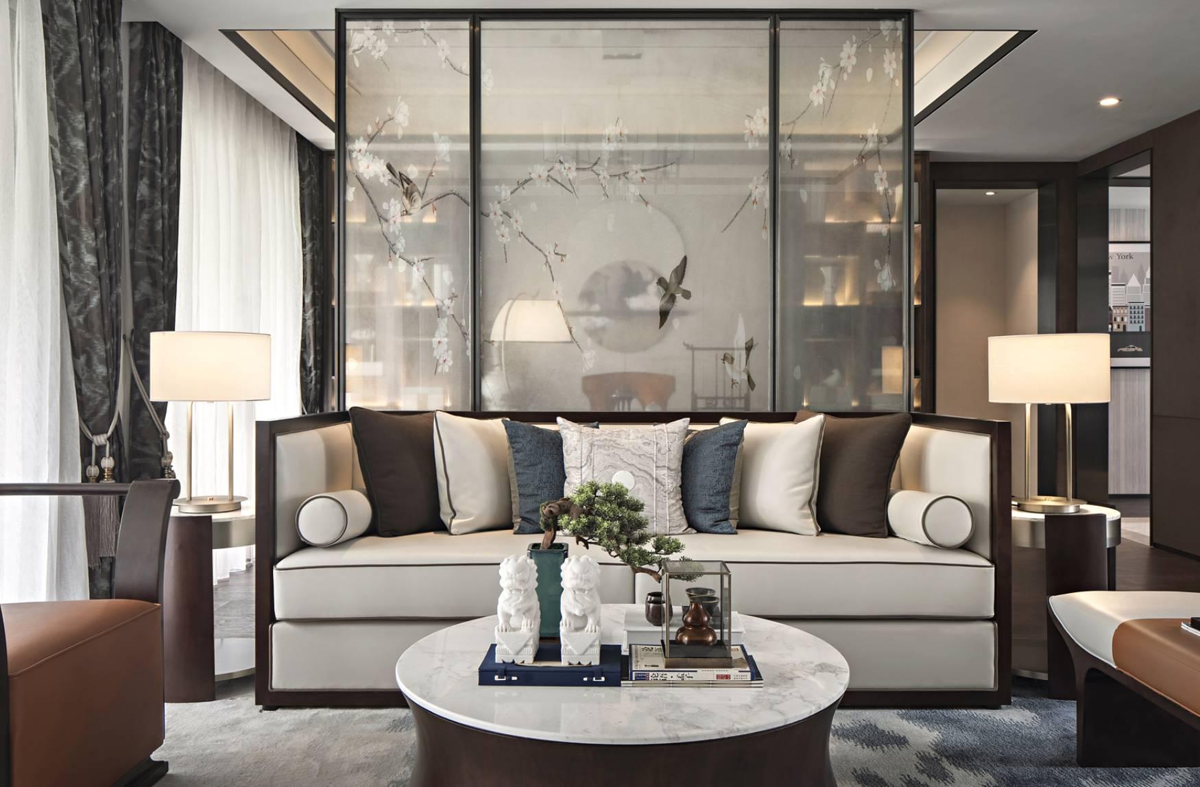 深圳兰江山第-新中式风格-134m²三居室
