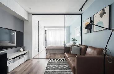 50㎡简约北欧风格公寓装修,小空间高格调!