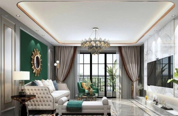 110平米-美式-三居室