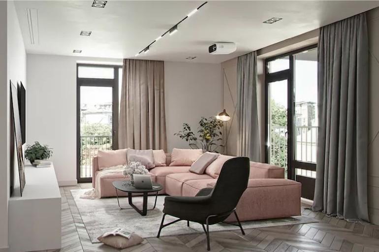【新家灵感】藕粉色彰显空间色彩张力,清新优雅范儿~