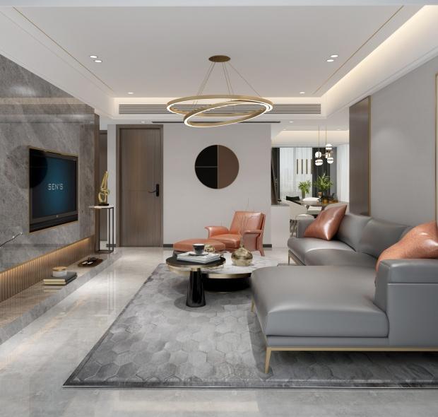 120平三居室,轻奢有度,精致无垠