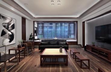华侨城_新中式风格-170㎡三居室