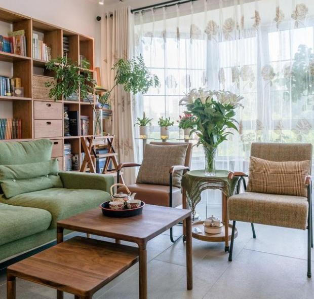 广州金地公园上城-日式装修风格-135㎡三居室