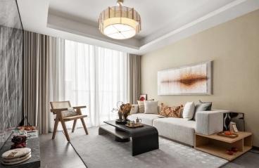 深圳澳城花园-现代轻奢风格-115㎡四居室