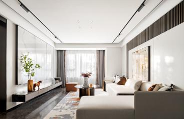 深圳半岛城邦-现代轻奢风格-317㎡别墅