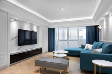 整体翻新装修案例丨以互动为主、以个性为辅,大胆又自信的美式宅