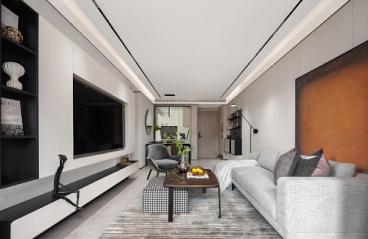 广州富力御龙庭-现代简约装修-127㎡三居室