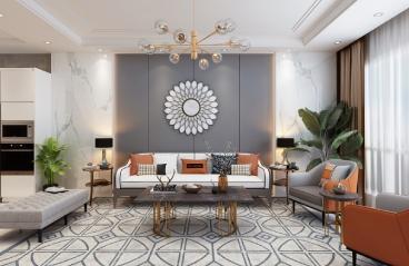 深圳幸福里-现代风格-186㎡四居室