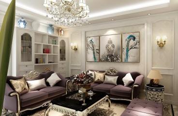 广州金融街融御-现代简约装修风格-115㎡三居室