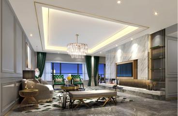 广州保利公园九里-法式轻奢装修风格-143㎡四居室