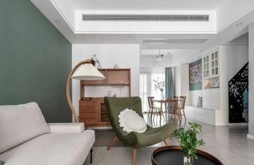 广州希尔顿阳光-中式装修风格-144㎡四居室