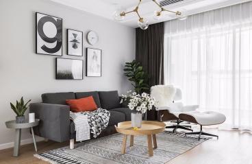 广州君汇世家-北欧装修风格-100㎡三居室
