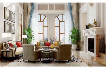 广州翰林水岸-欧式装修风格-108㎡三居室