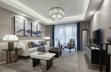 广州元邦明月水岸-中式装修风格-129㎡三居室