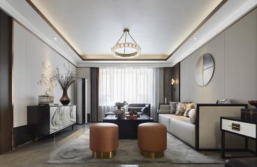 广州安利大厦-中式装修风格-125㎡三居室