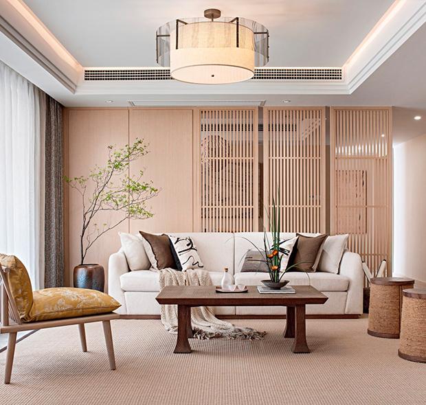 广州金地香山湖别墅-日式装修风格-280㎡五居室