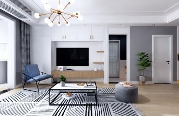 138㎡现代轻奢,高级冷棕做底,哑光质感演绎品质的家居实景