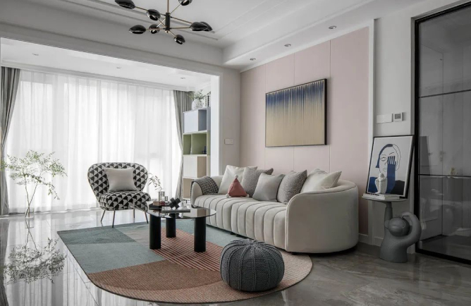 深圳金域蓝湾-现代风格-260㎡四居室