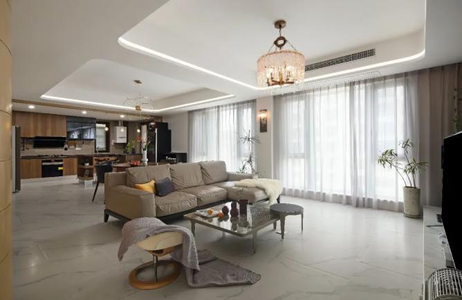 深圳万科金域蓝湾-现代轻奢风格-260㎡四居室