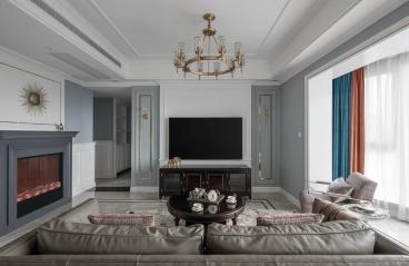 广州翡翠绿洲森林半岛-美式装修风格-180㎡四居室