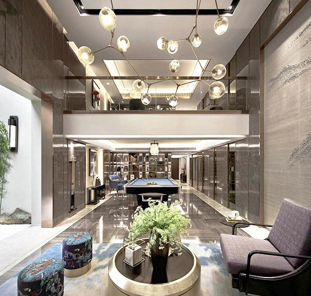 广州南沙奥园别墅-新中式风装修-370m²独栋别墅